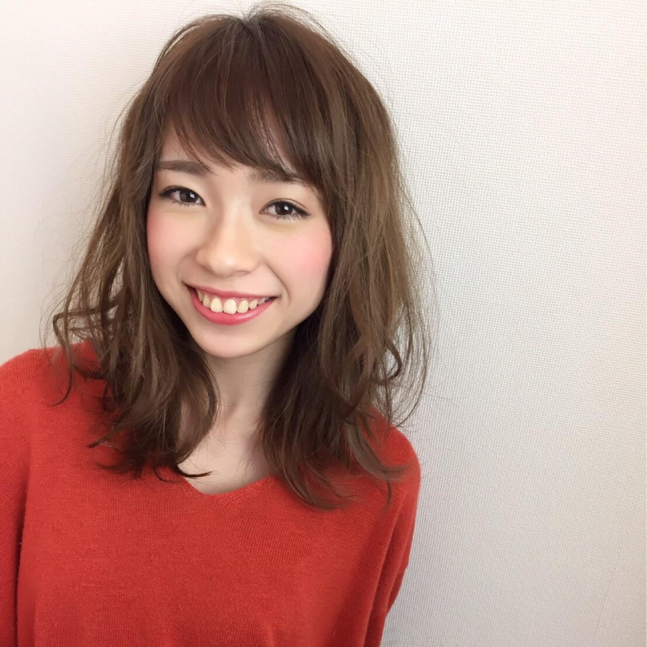 アプリコット ナチュラル 春 アンニュイ ヘアスタイルや髪型の写真・画像 | ひろみ /