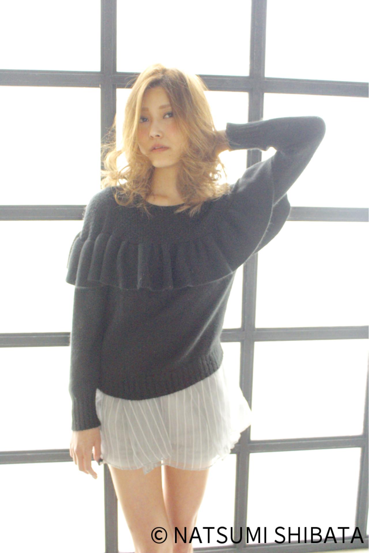 ガーリー ゆるふわ 大人かわいい セミロング ヘアスタイルや髪型の写真・画像 | NATSUMI SHIBATA / ALBUM