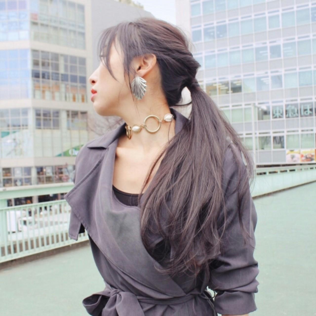 ロング ショート ヘアアレンジ ナチュラルヘアスタイルや髪型の写真・画像