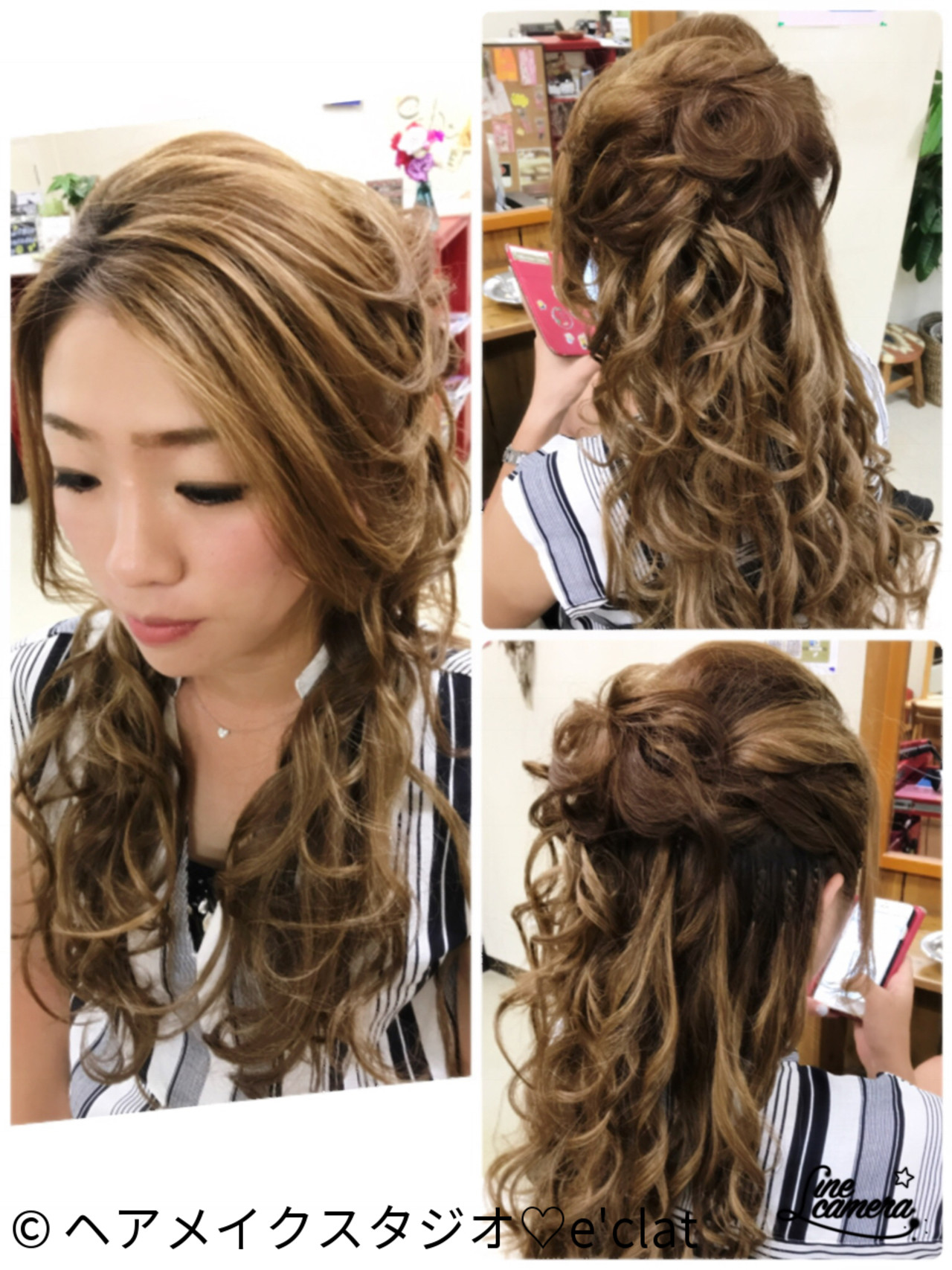 上品 エレガント 結婚式 ハーフアップ ヘアスタイルや髪型の写真・画像 | ヘアメイクスタジオ♡e'clat / ヘアメイクスタジオ♡e'clat