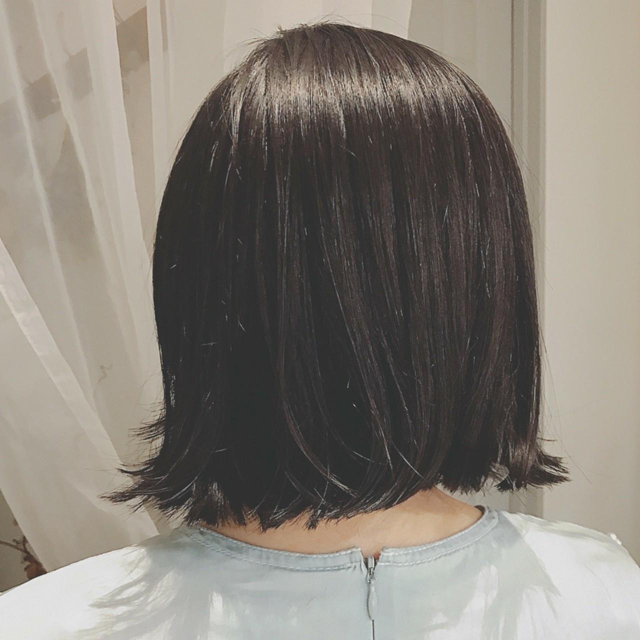 デート 黒髪 色気 大人かわいい ヘアスタイルや髪型の写真・画像 | 浦川由起江 / nanon