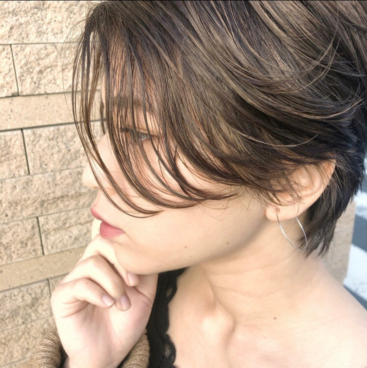 ハイライト ショートボブ アンニュイほつれヘア インナーカラー ヘアスタイルや髪型の写真・画像 | 高沼 達也 / byトルネード / トルネード