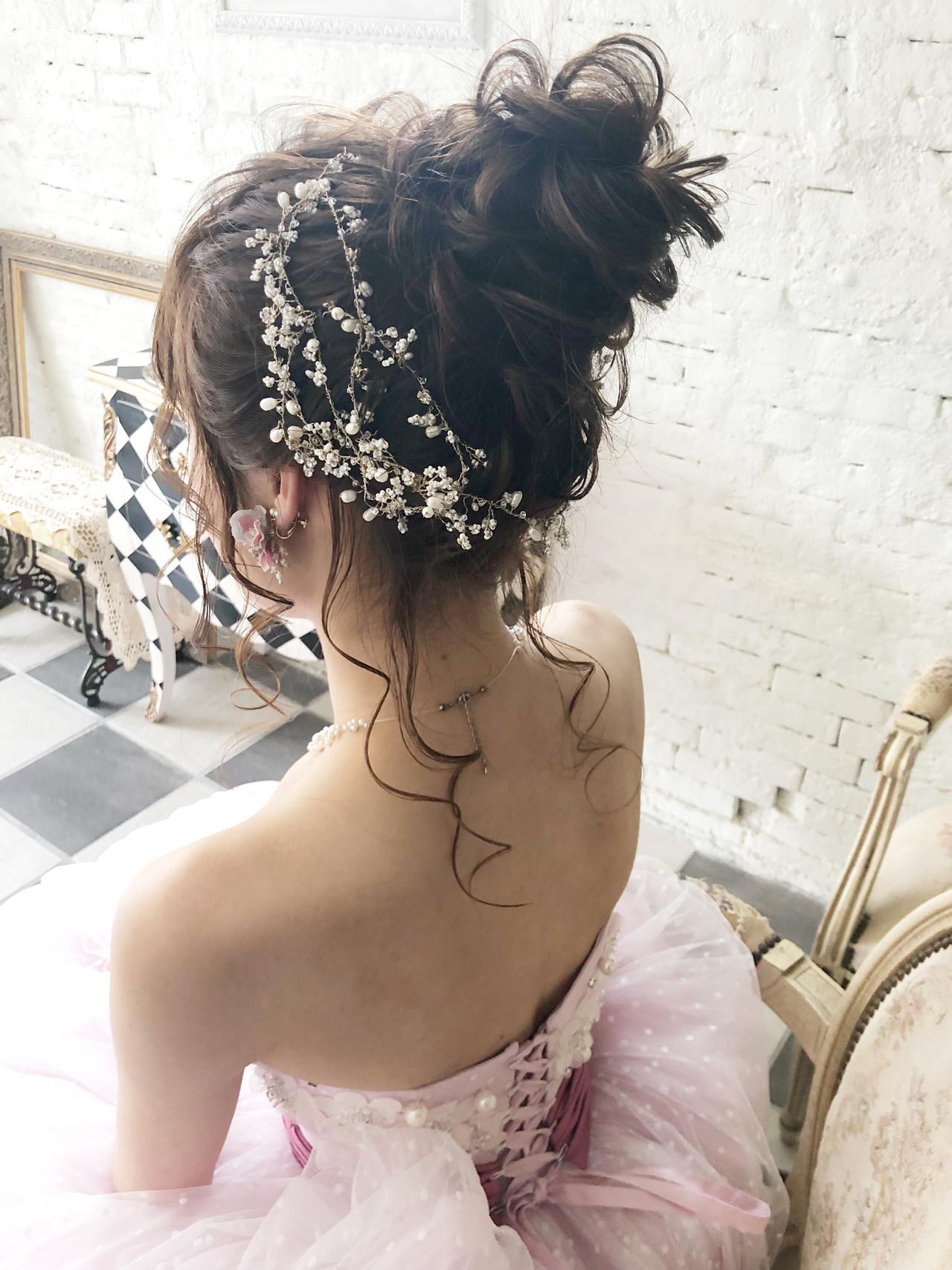 ロング 成人式 ヘアアレンジ 結婚式ヘアスタイルや髪型の写真・画像