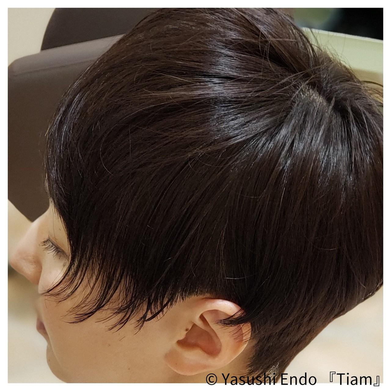 まとまるボブ モード ボブ 大人ヘアスタイルヘアスタイルや髪型の写真・画像