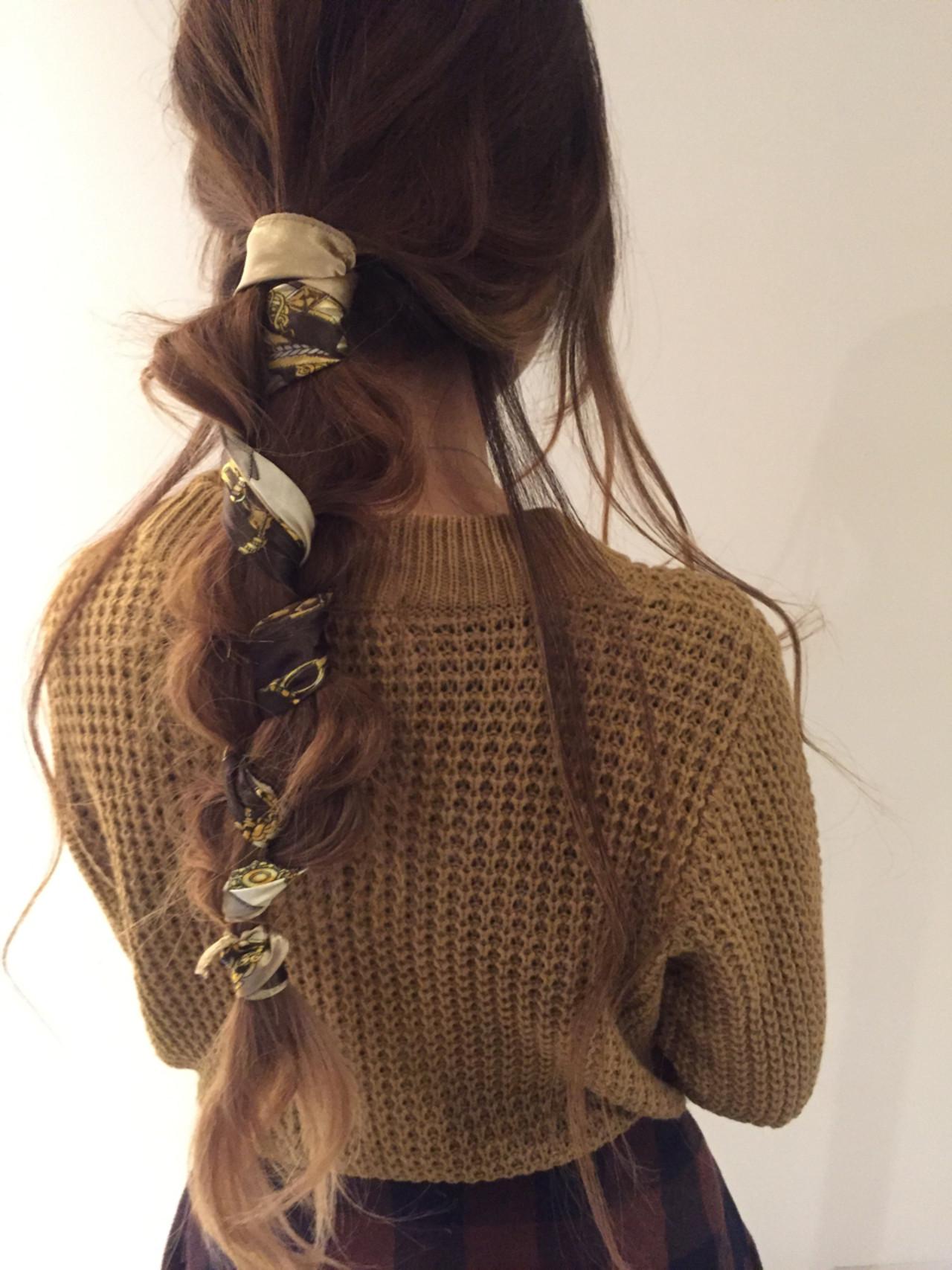 ポニーテール×スカーフで作る簡単可愛いヘアスタイル♡ 北口 和樹
