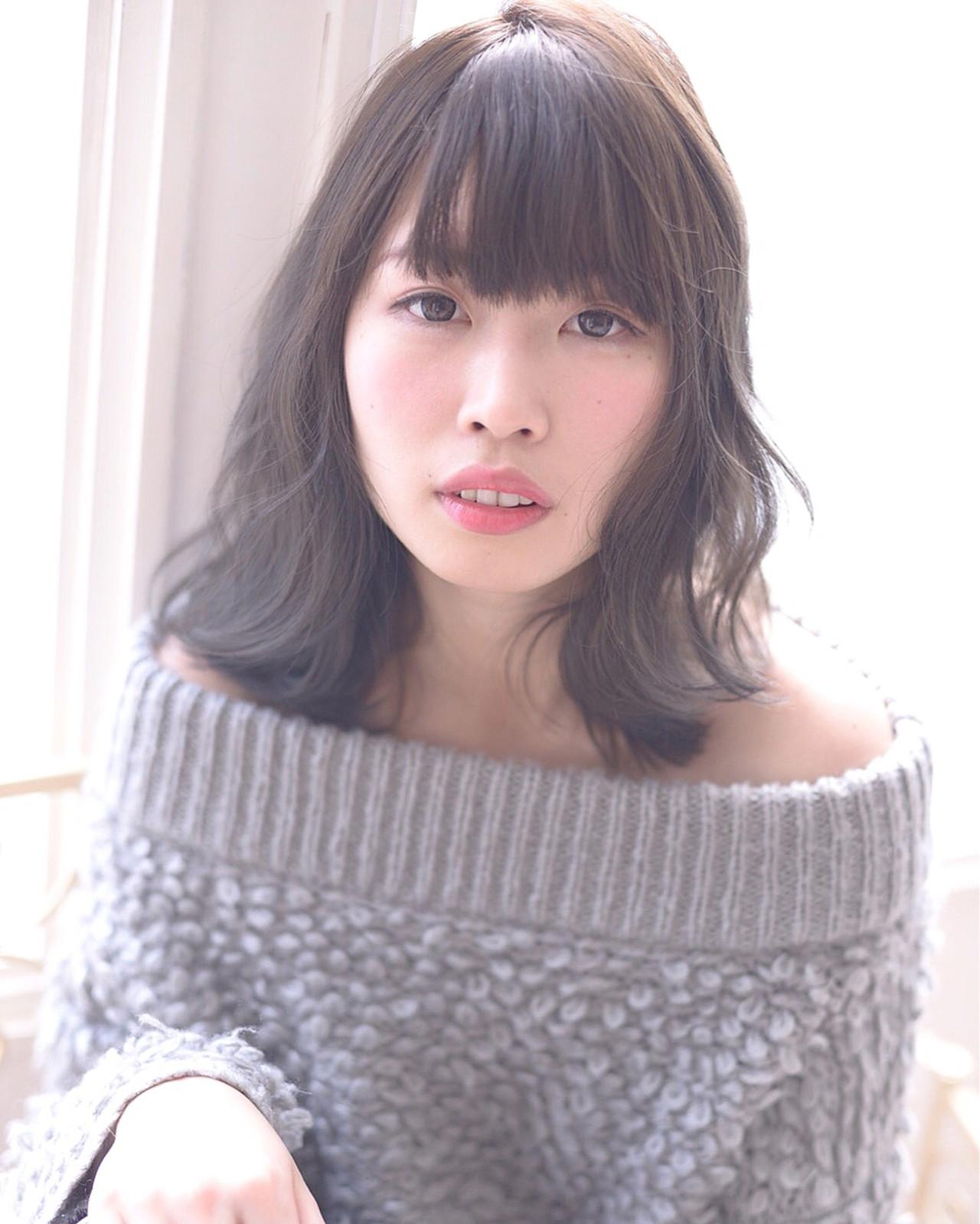 ナチュラル 愛され 外国人風 ウェットヘア ヘアスタイルや髪型の写真・画像   黒田彩水 /