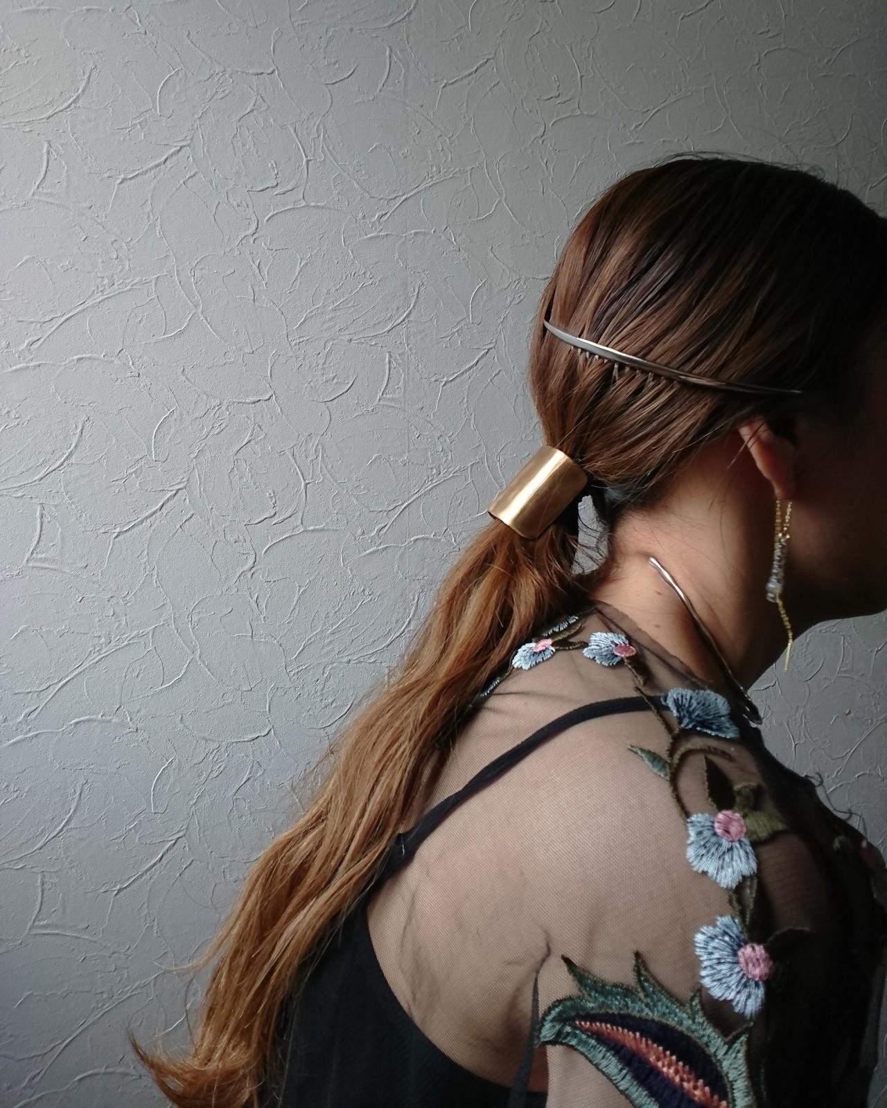 簡単ヘアアレンジ オシャレ 大人かわいい ポニーテール ヘアスタイルや髪型の写真・画像 | aria.aya2020 / aria