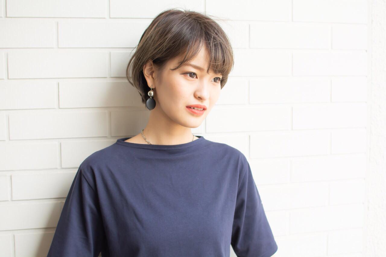 外国人風 色気 ショート 大人かわいい ヘアスタイルや髪型の写真・画像   【noine】斉藤 正敏 / noine