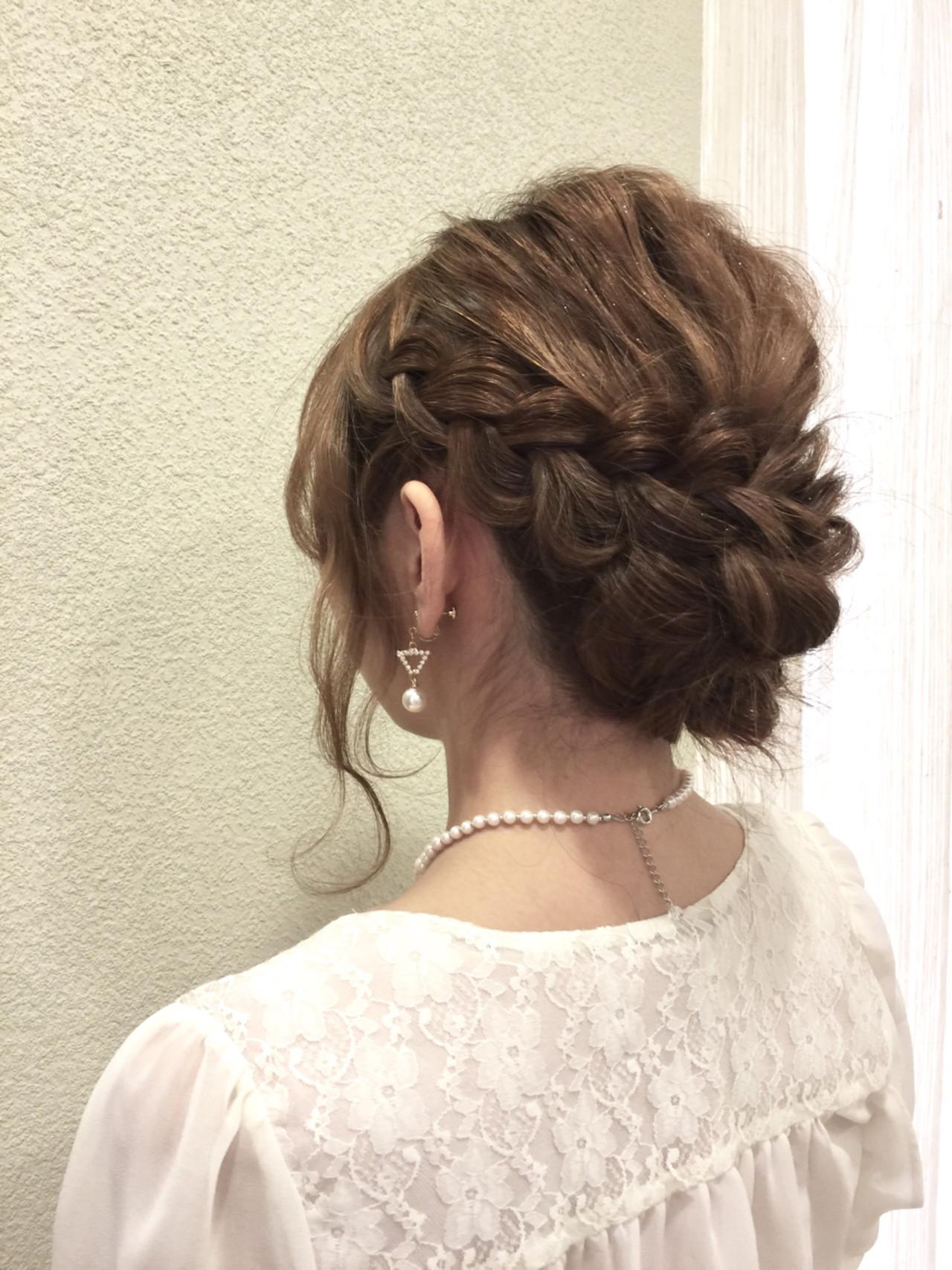 ヘアアレンジ 大人女子 セミロング 外国人風 ヘアスタイルや髪型の写真・画像 | 水上 雅裕 / JOLF salon original