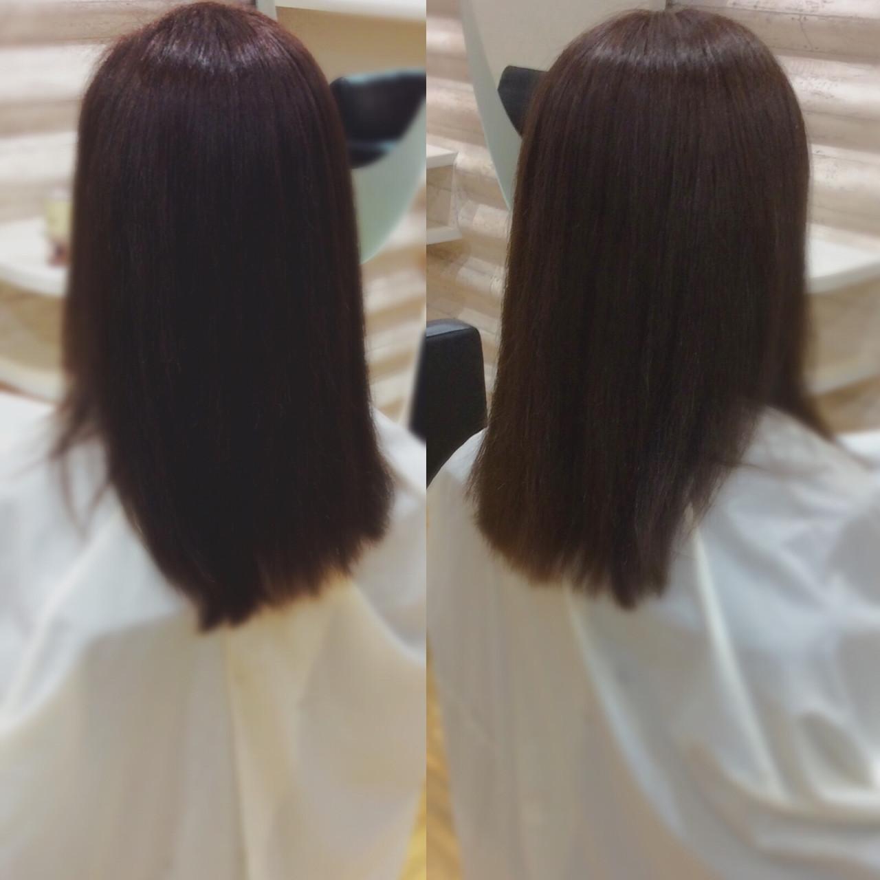 ロング ロングヘア 髪質改善トリートメント 髪質改善カラーヘアスタイルや髪型の写真・画像