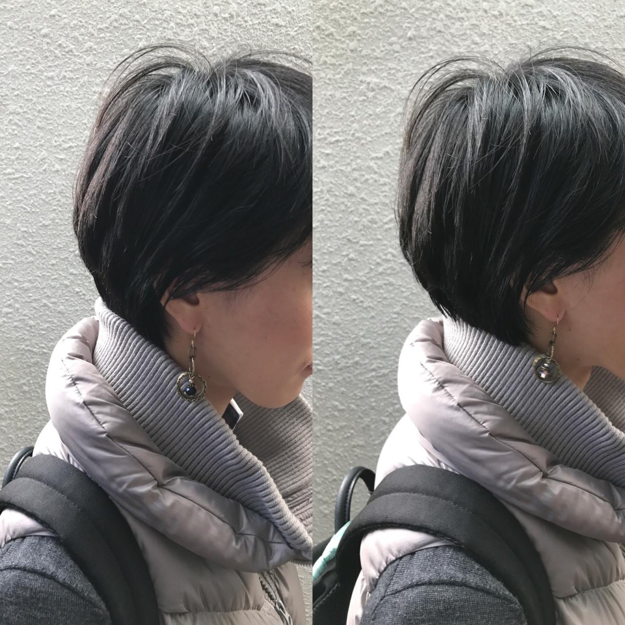 暗髪 ゆるふわ アッシュ 前髪ありヘアスタイルや髪型の写真・画像