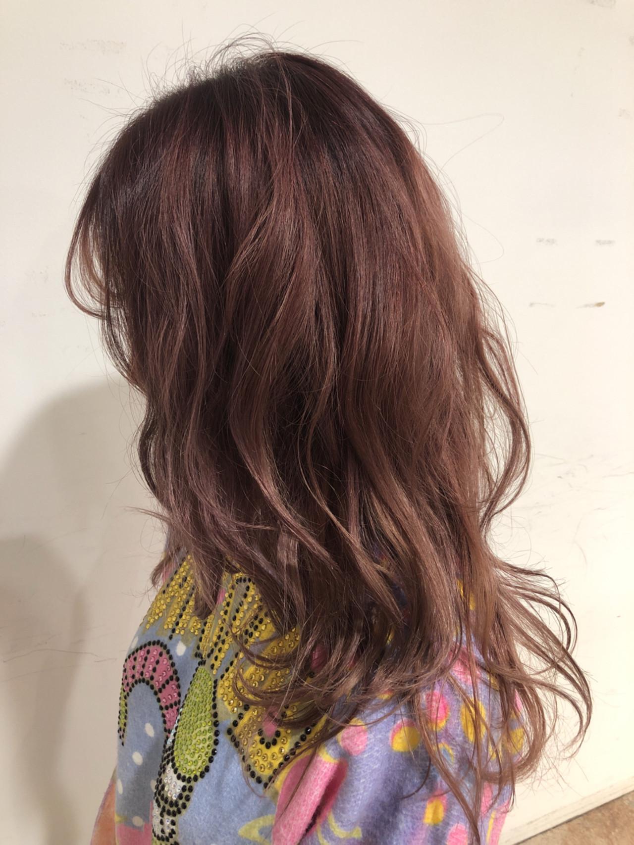 ゆるふわ アンニュイ ピンク ガーリー ヘアスタイルや髪型の写真・画像 | Machiko Tsushi / STILL hair,spa&eyelush