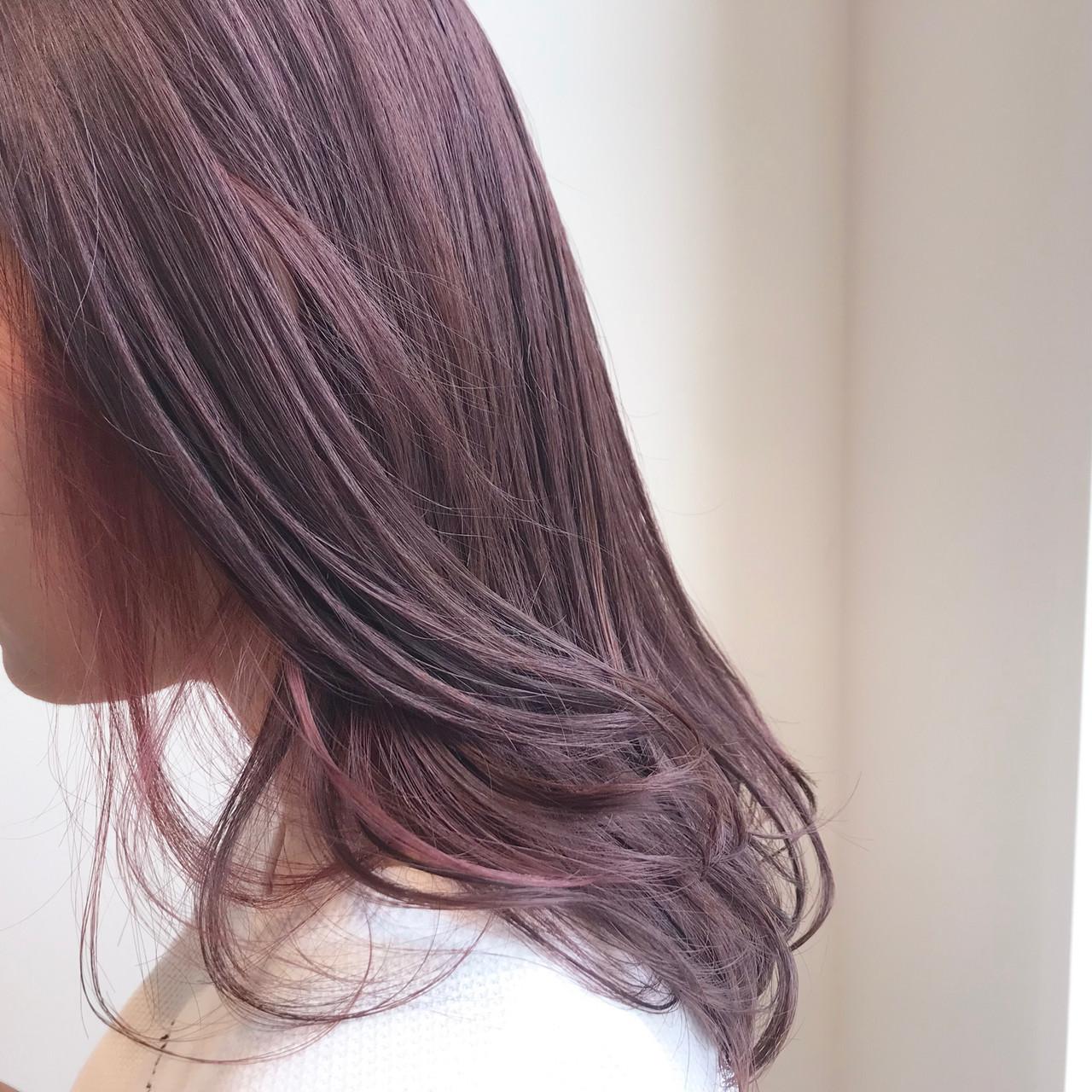 透明感カラー デート ピンクベージュ ブリーチ無し ヘアスタイルや髪型の写真・画像 | 村西 郁人 / rue