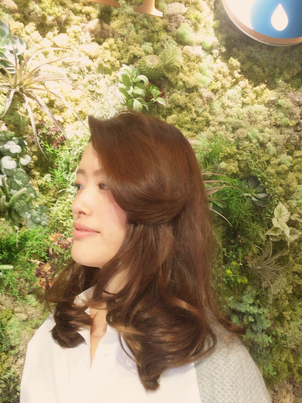 ロング モテ髪 コンサバ ゆるふわ ヘアスタイルや髪型の写真・画像 | 山岸 一樹 / ANell【エネル】