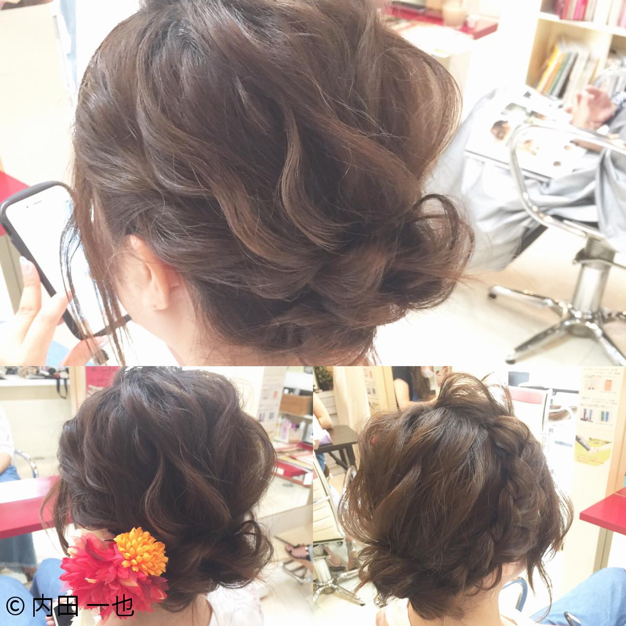 お祭り 色気 夏 ナチュラル ヘアスタイルや髪型の写真・画像   内田 一也 / hair/nail space a:le