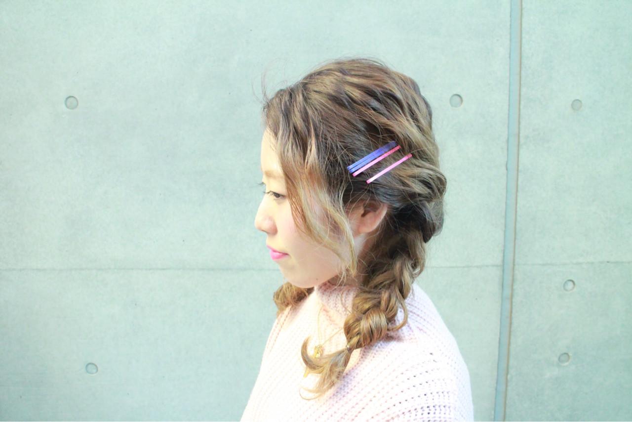 外国人風 ショート ゆるふわ 簡単ヘアアレンジ ヘアスタイルや髪型の写真・画像 | まりえ / 花やの前の美容室