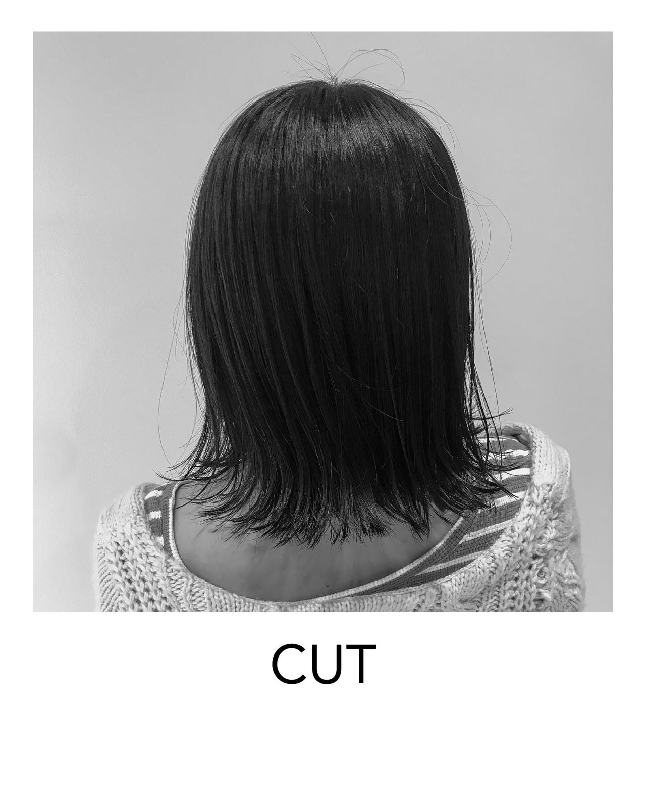 ボブ ナチュラル 外ハネ ショートボブ ヘアスタイルや髪型の写真・画像 | ISSEI_TAKASHIMA / OREO.coco