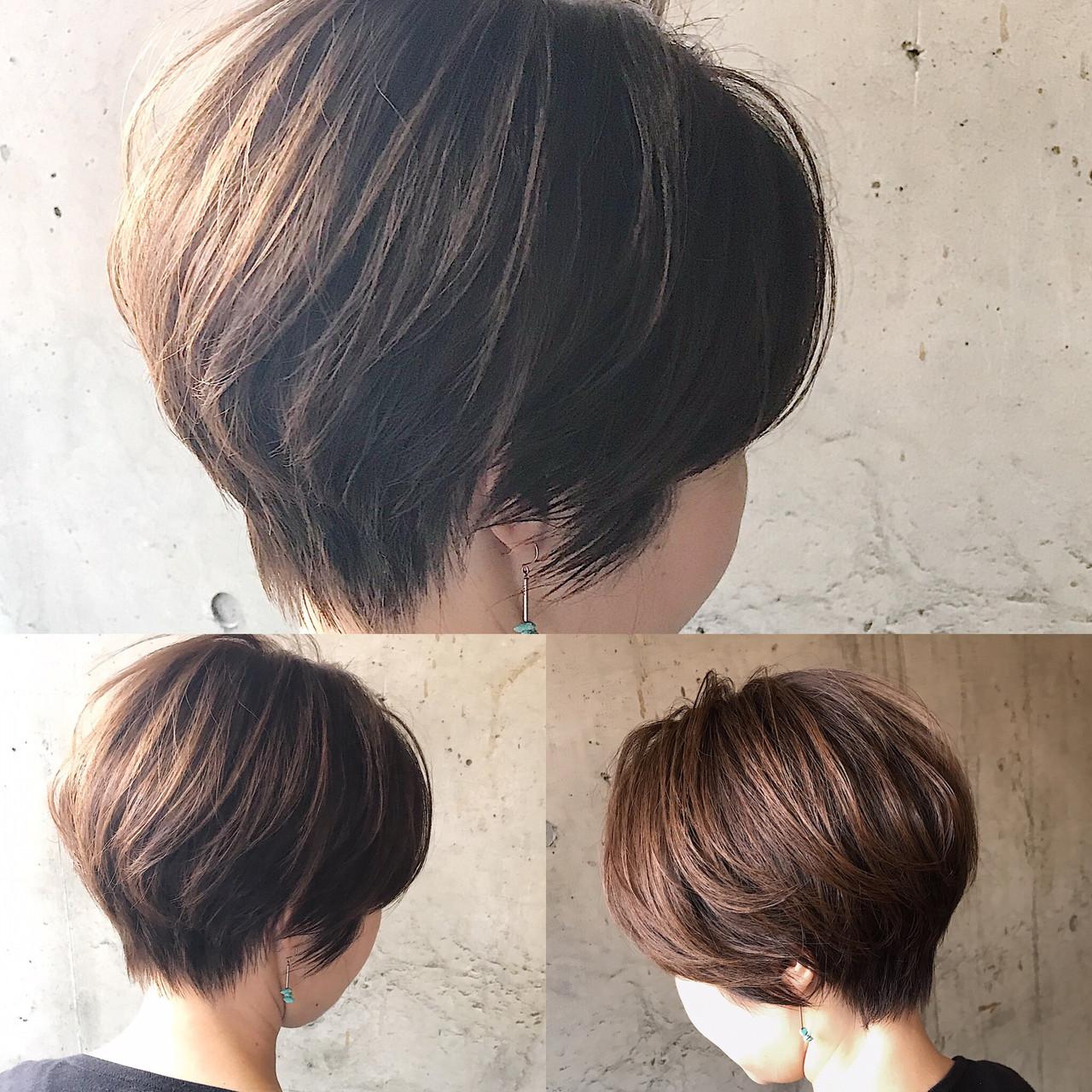 ハンサムショート オフィス ショート 小顔ショート ヘアスタイルや髪型の写真・画像   内田 一也 / hair/nail space a:le