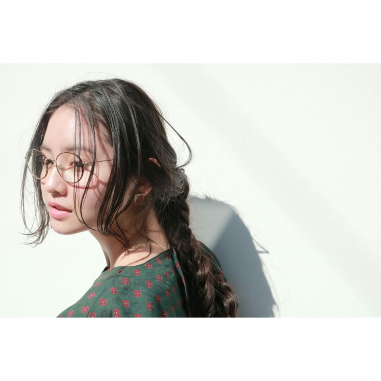 小顔 ナチュラル 黒髪 デート ヘアスタイルや髪型の写真・画像 | 丸山悟 / DEARL