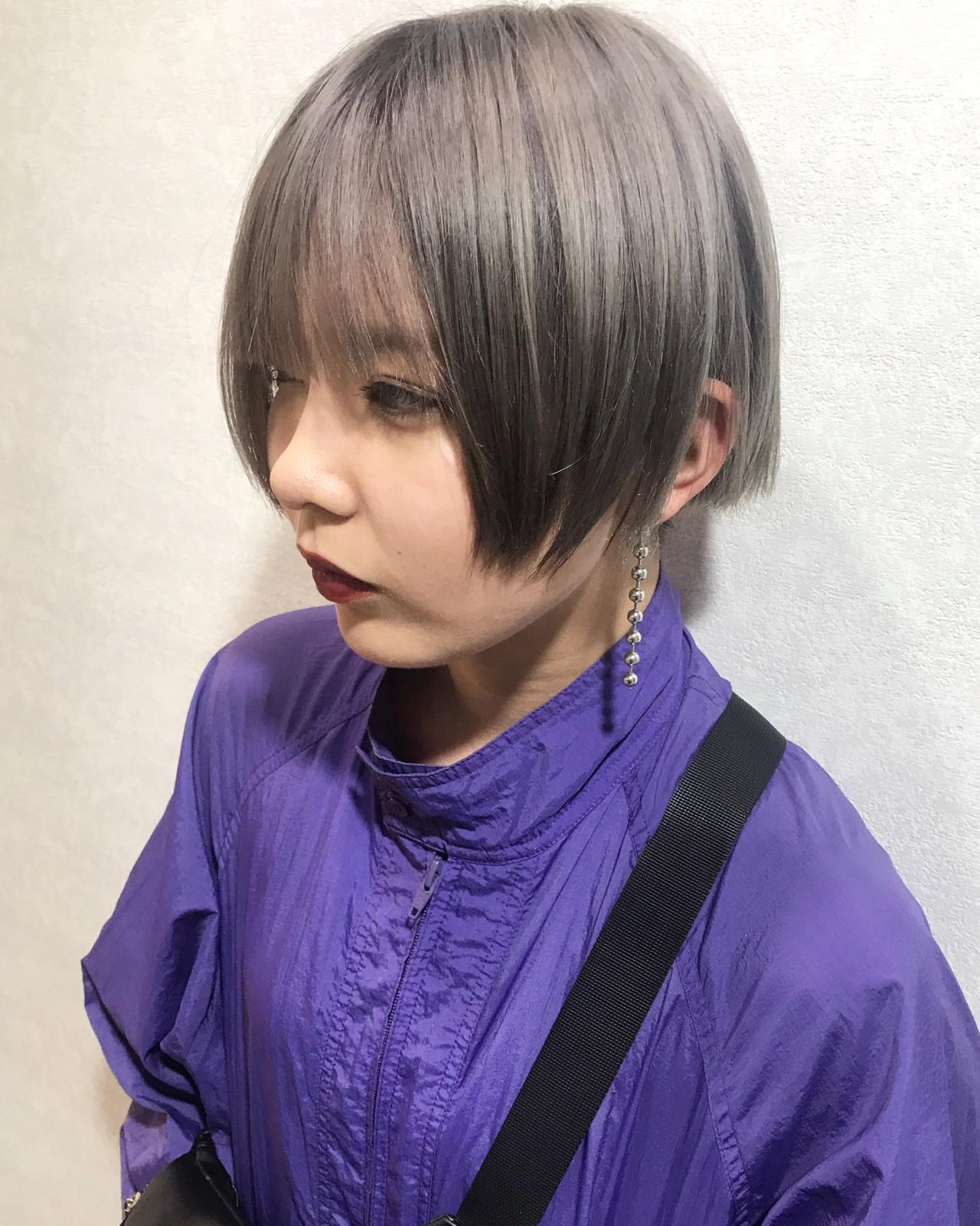外国人風カラー ショート カジュアル ミルクティー ヘアスタイルや髪型の写真・画像 | yoshiki / float 天神橋