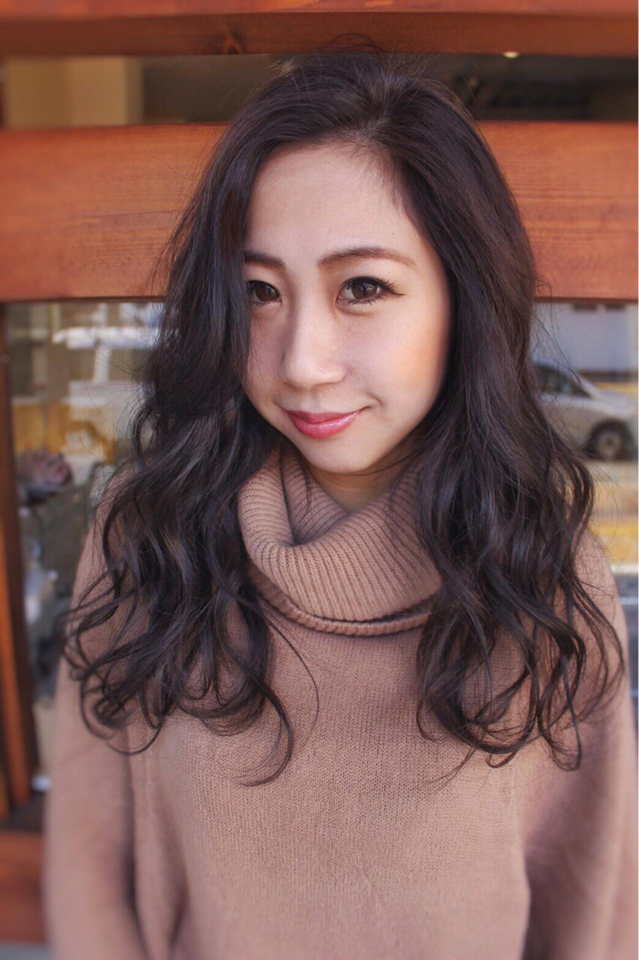 ナチュラル 暗髪 外国人風カラー 大人女子ヘアスタイルや髪型の写真・画像