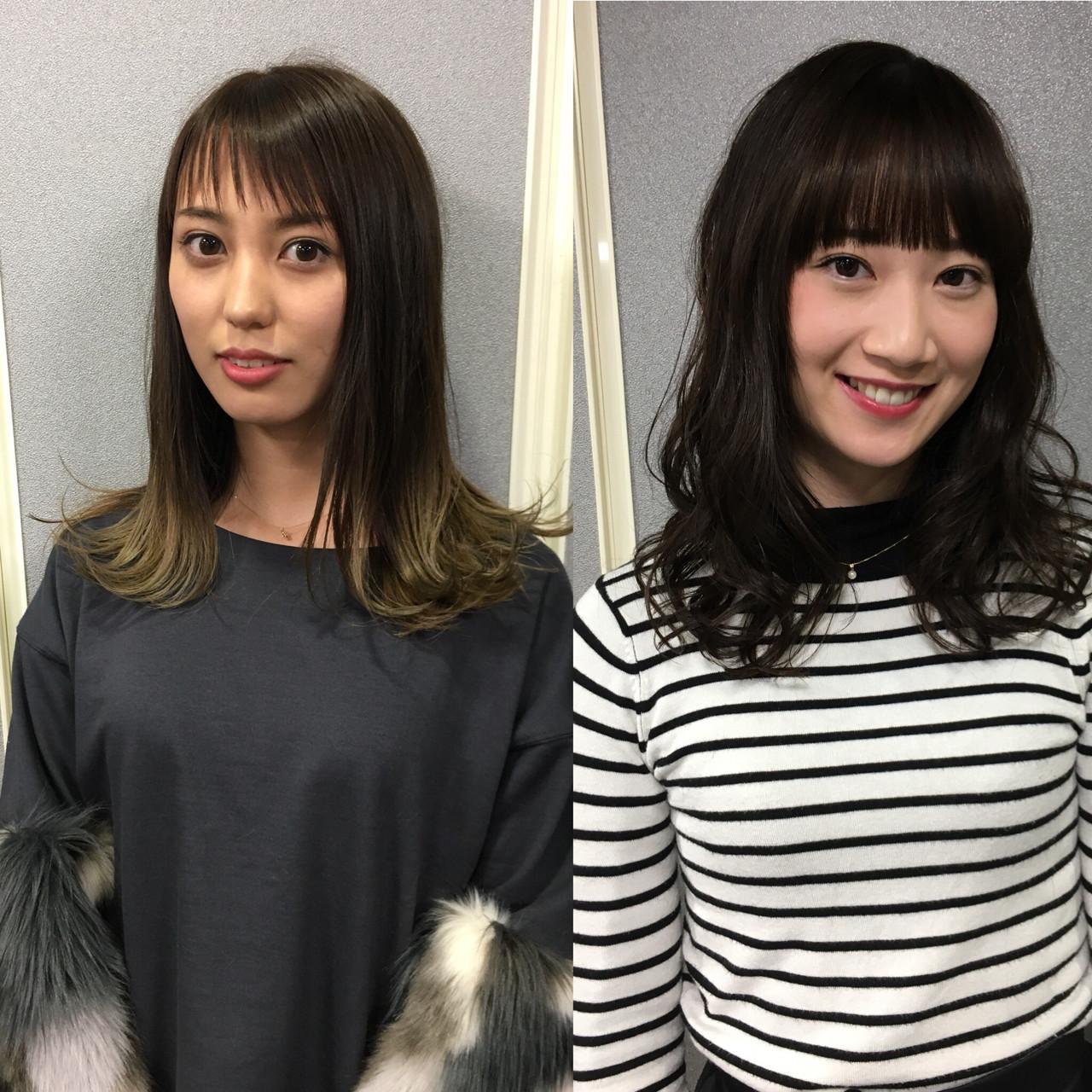 ロング シースルーバング 透明感 モード ヘアスタイルや髪型の写真・画像   元橋啓太 / snob