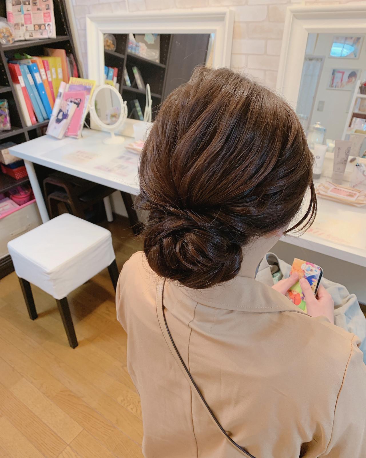 エレガント ヘアアレンジ 簡単ヘアアレンジ 結婚式 ヘアスタイルや髪型の写真・画像 | Moriyama Mami / 福岡天神ヘアセット・着付け専門店【Three-keys】