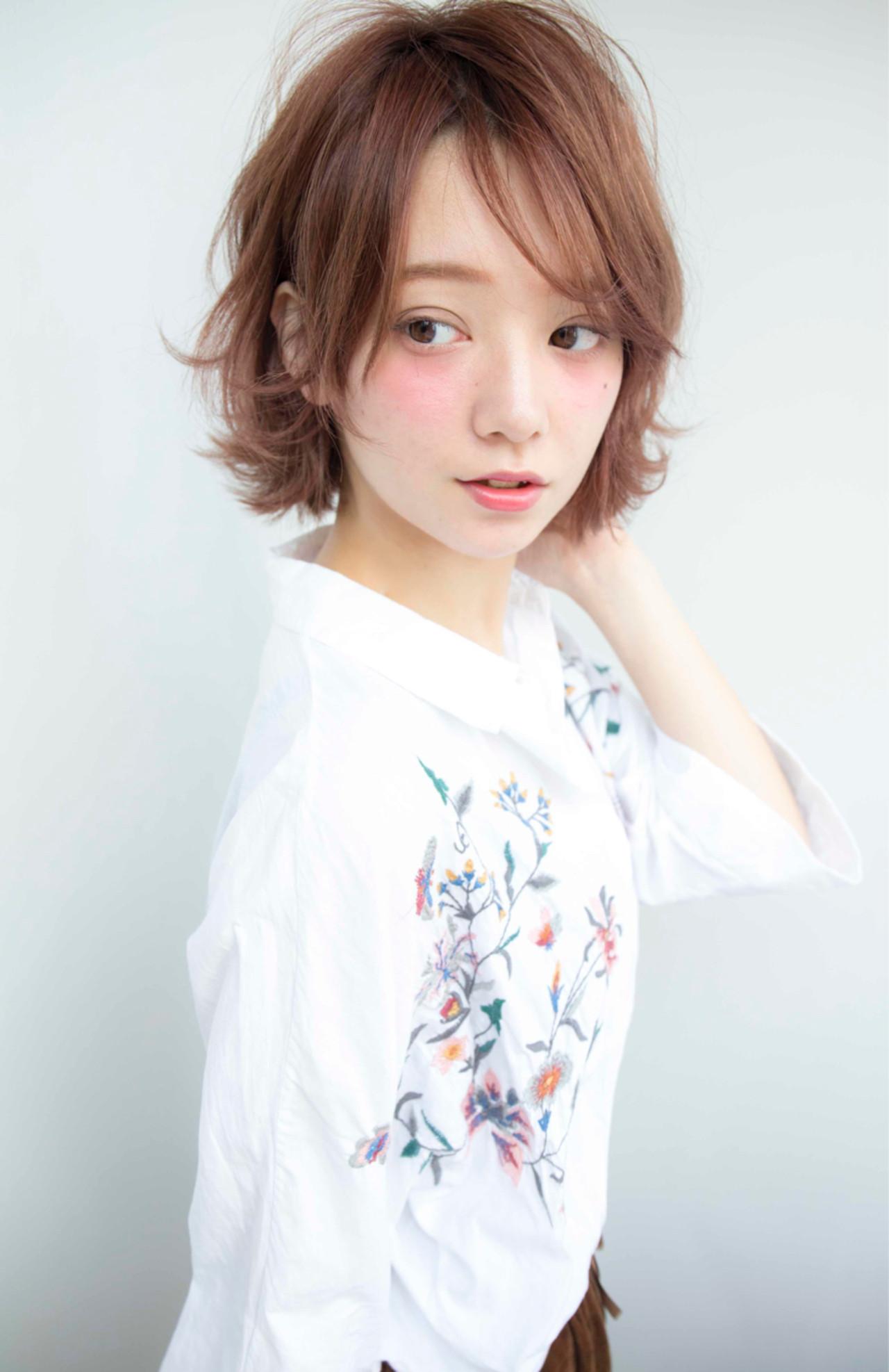 大人女子 ナチュラル 小顔 ボブ ヘアスタイルや髪型の写真・画像 | 堀伸裕 / Gem Garden