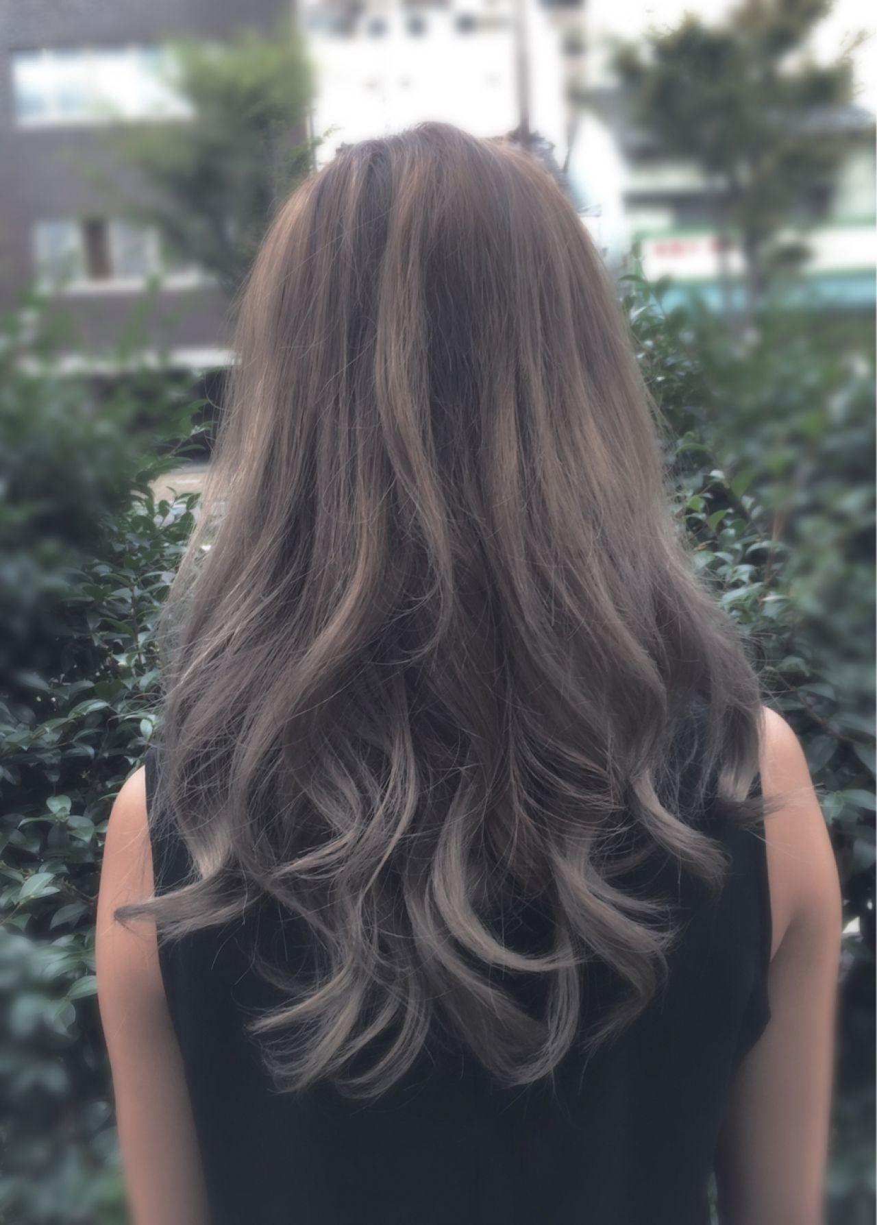 ロング グラデーションカラー コンサバ 外国人風ヘアスタイルや髪型の写真・画像