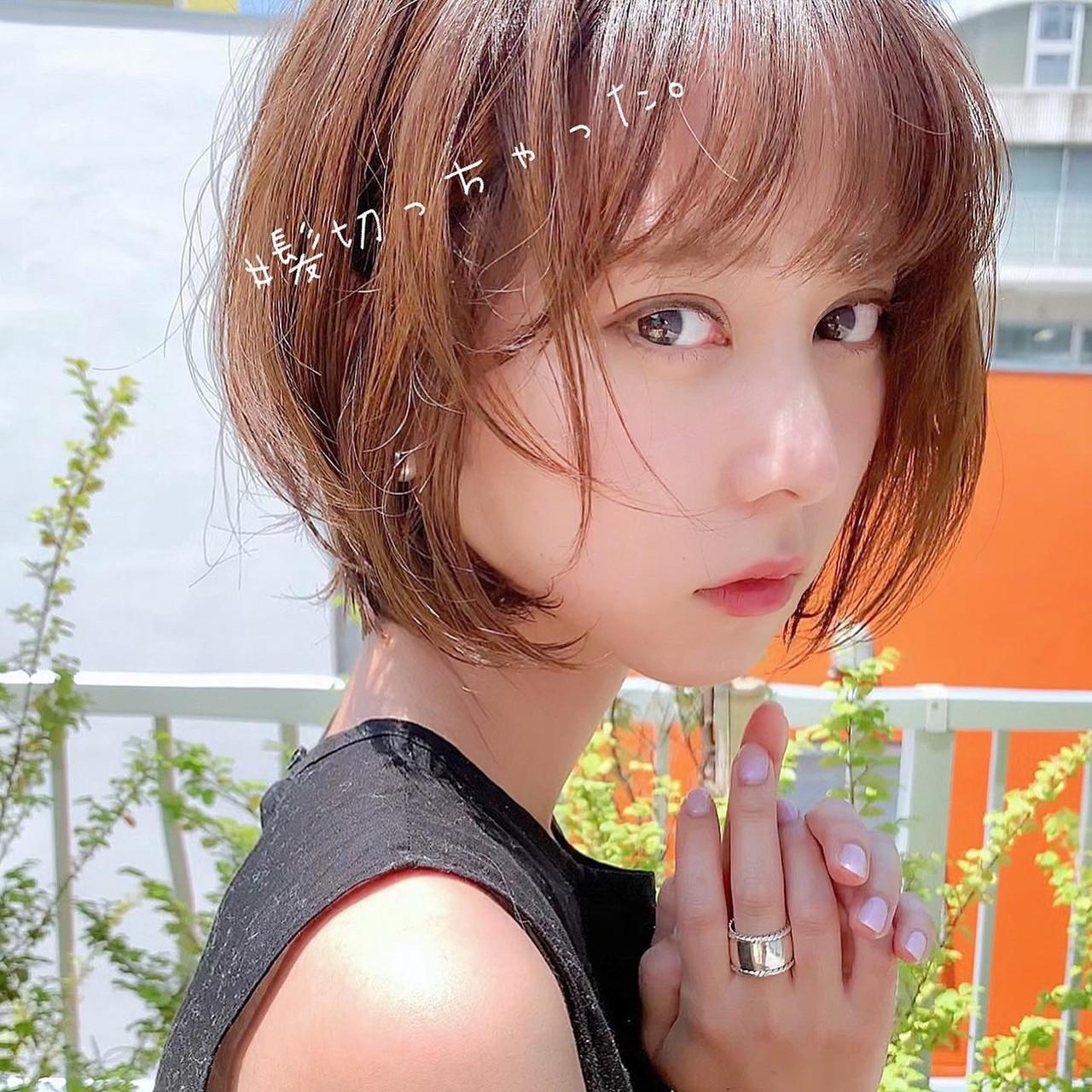 デート ナチュラル ヘアアレンジ ショート ヘアスタイルや髪型の写真・画像 | ショートボブの匠【 山内大成 】『i.hair』 / 『 i. 』 omotesando