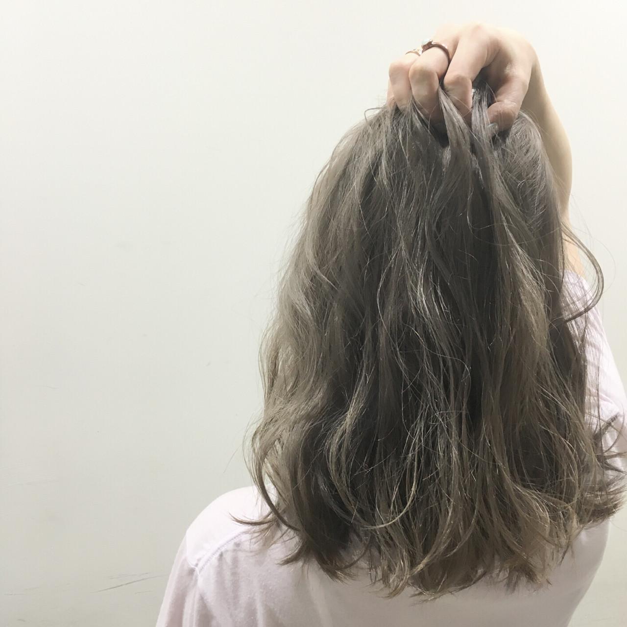 グラデーションカラー ミディアム ブラウン 外国人風ヘアスタイルや髪型の写真・画像
