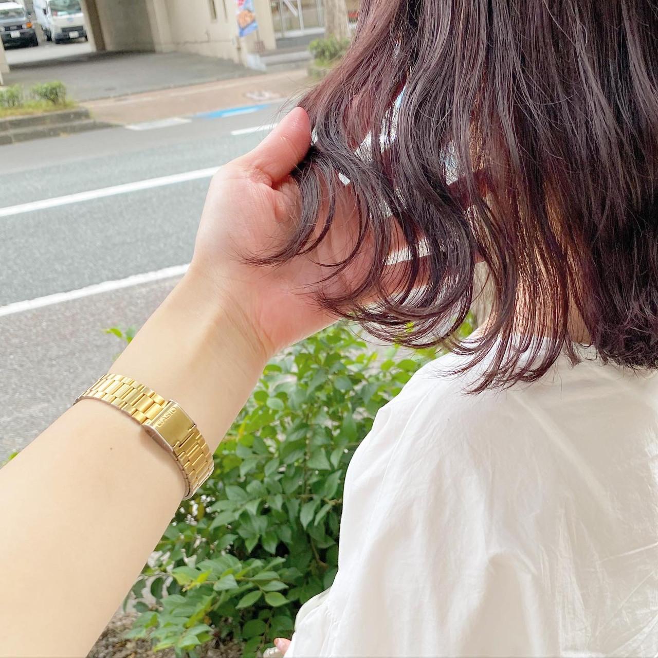 ピンクブラウン ピンクラベンダー ピンク ラベンダーピンクヘアスタイルや髪型の写真・画像