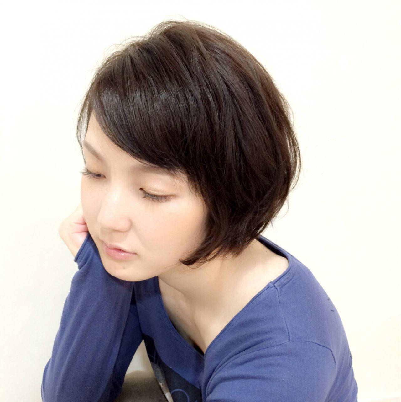 好印象美人になれる♪黒髪ショートのヘアスタイル集 梨紗 美濃部