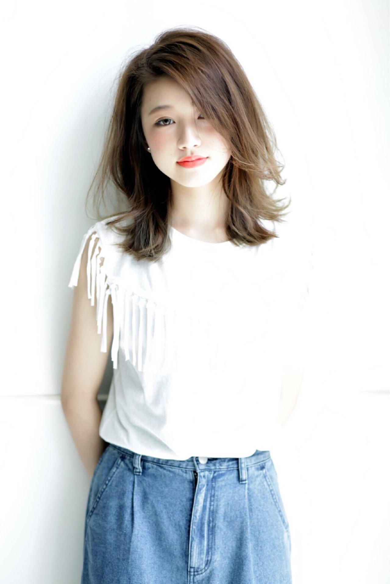 ナチュラル 前髪あり デート 夏 ヘアスタイルや髪型の写真・画像 | 掛橋 翔 / air-FUKUOKA