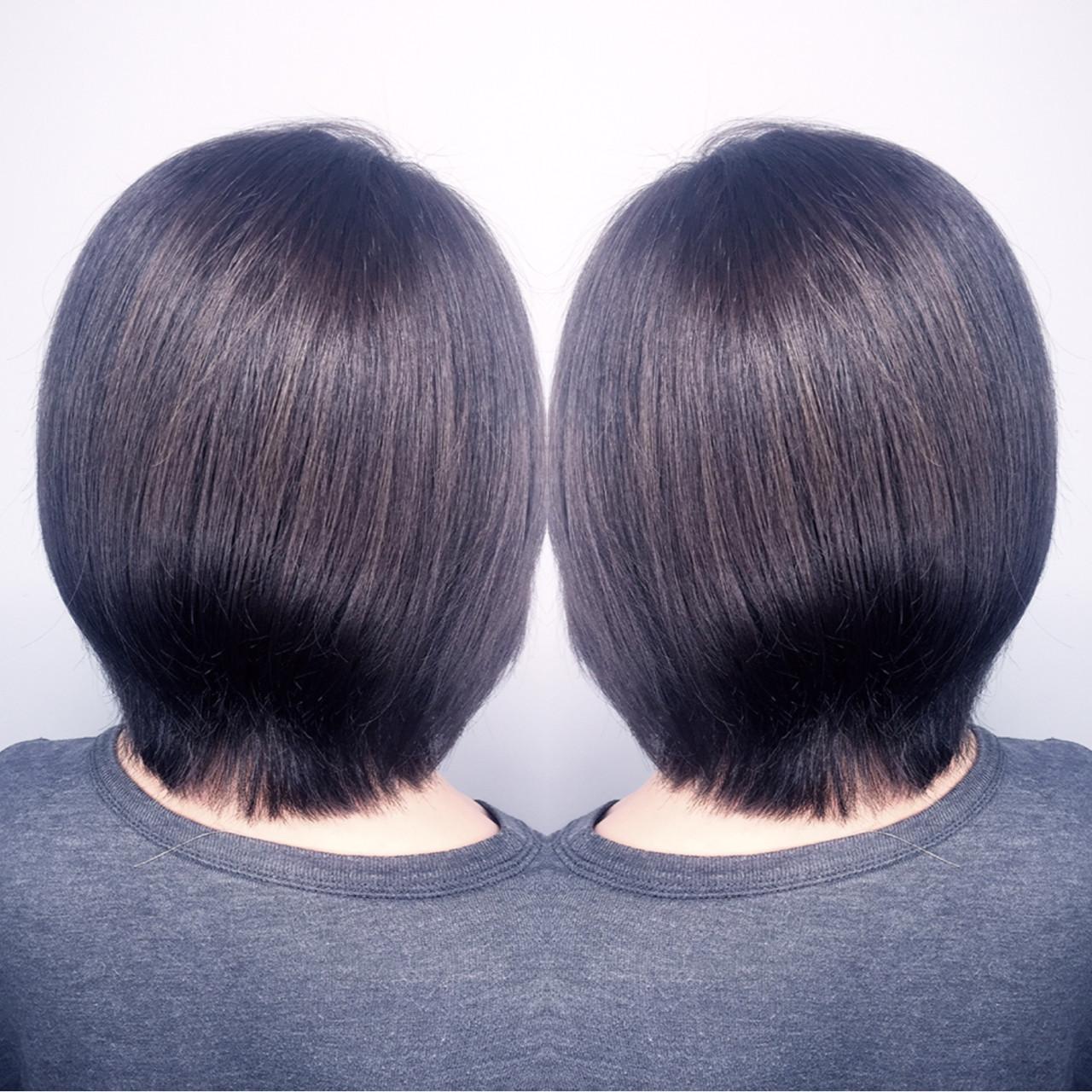 ショート 暗髪 ブルージュ アッシュ ヘアスタイルや髪型の写真・画像 | 筒井 隆由 / Hair salon mode