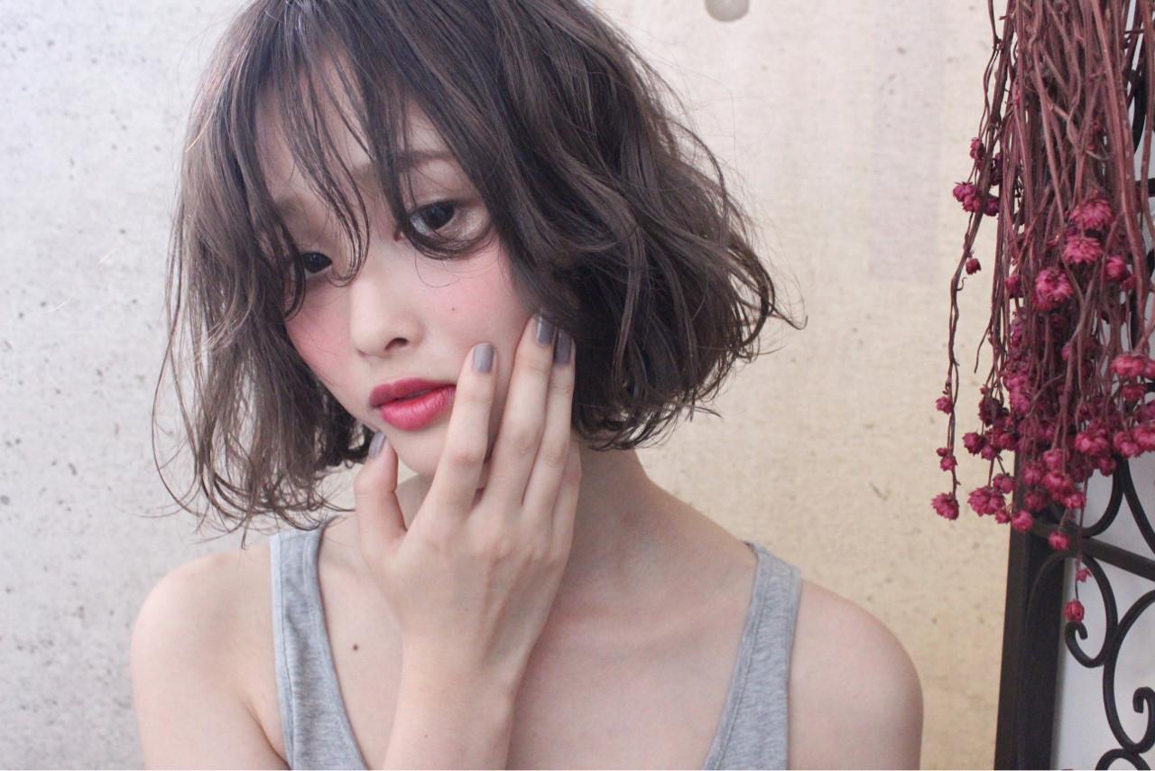 ニュアンス 外国人風 秋 ボブヘアスタイルや髪型の写真・画像