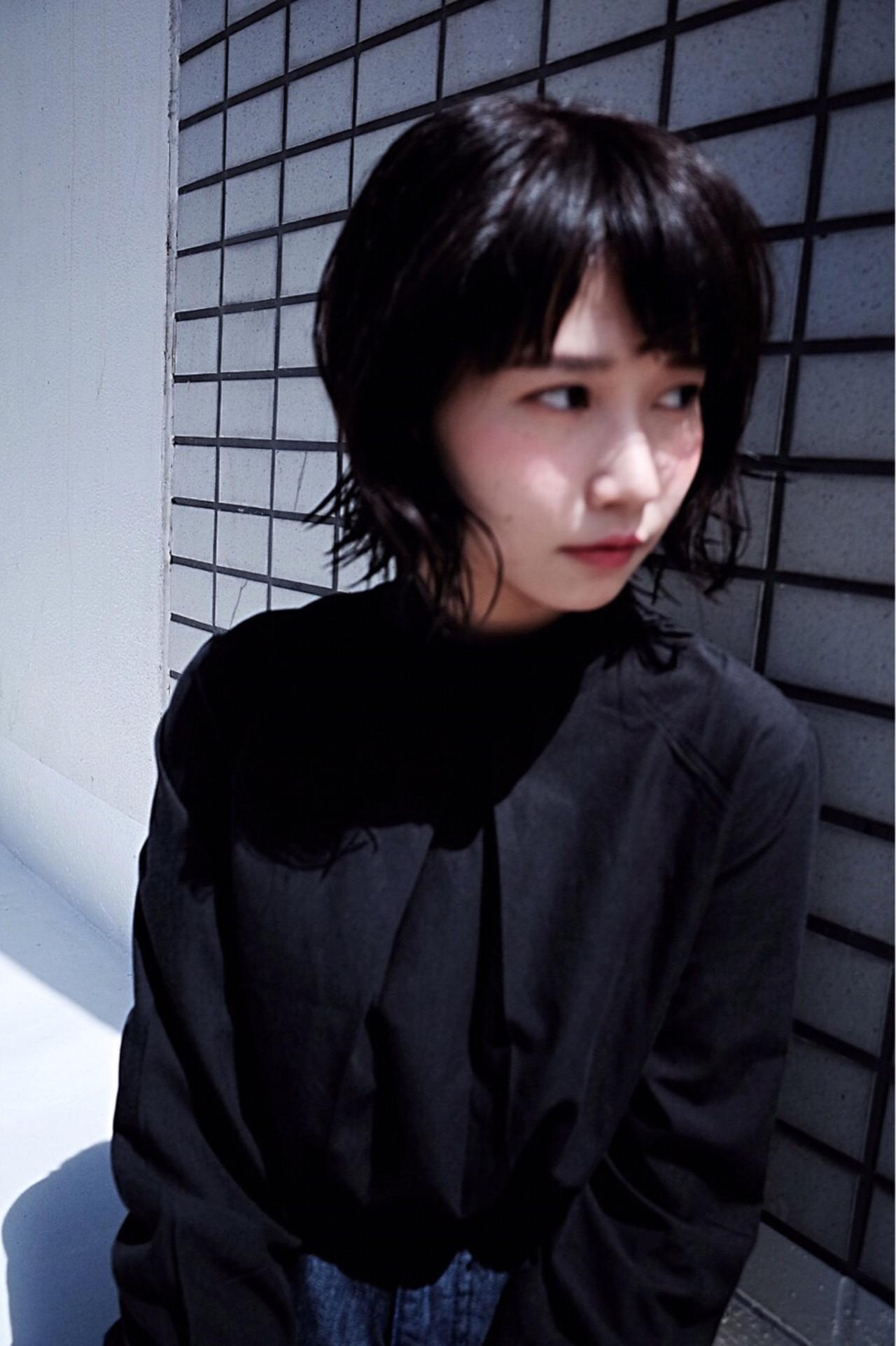 ナチュラル ブラウン 黒髪 ショート ヘアスタイルや髪型の写真・画像 | カラーリスト・YuuKi Sekimoto / wherever