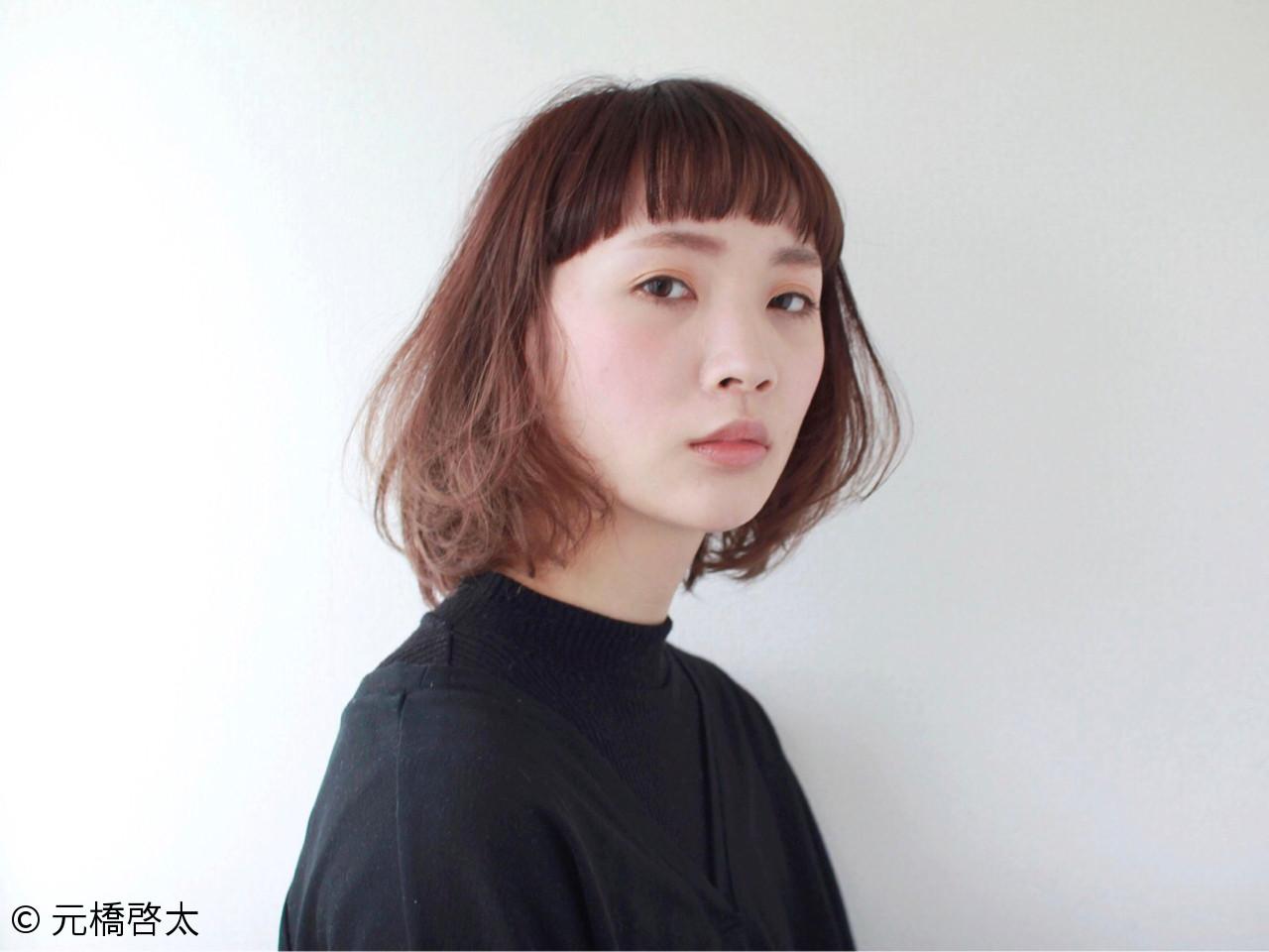 ベージュ ミルクティー ピンク モード ヘアスタイルや髪型の写真・画像 | 元橋啓太 / snob