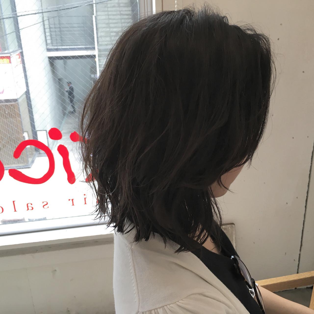 ミディアム ストリート ウルフカット レイヤーカット ヘアスタイルや髪型の写真・画像 | Miyabi/kico / MYBY