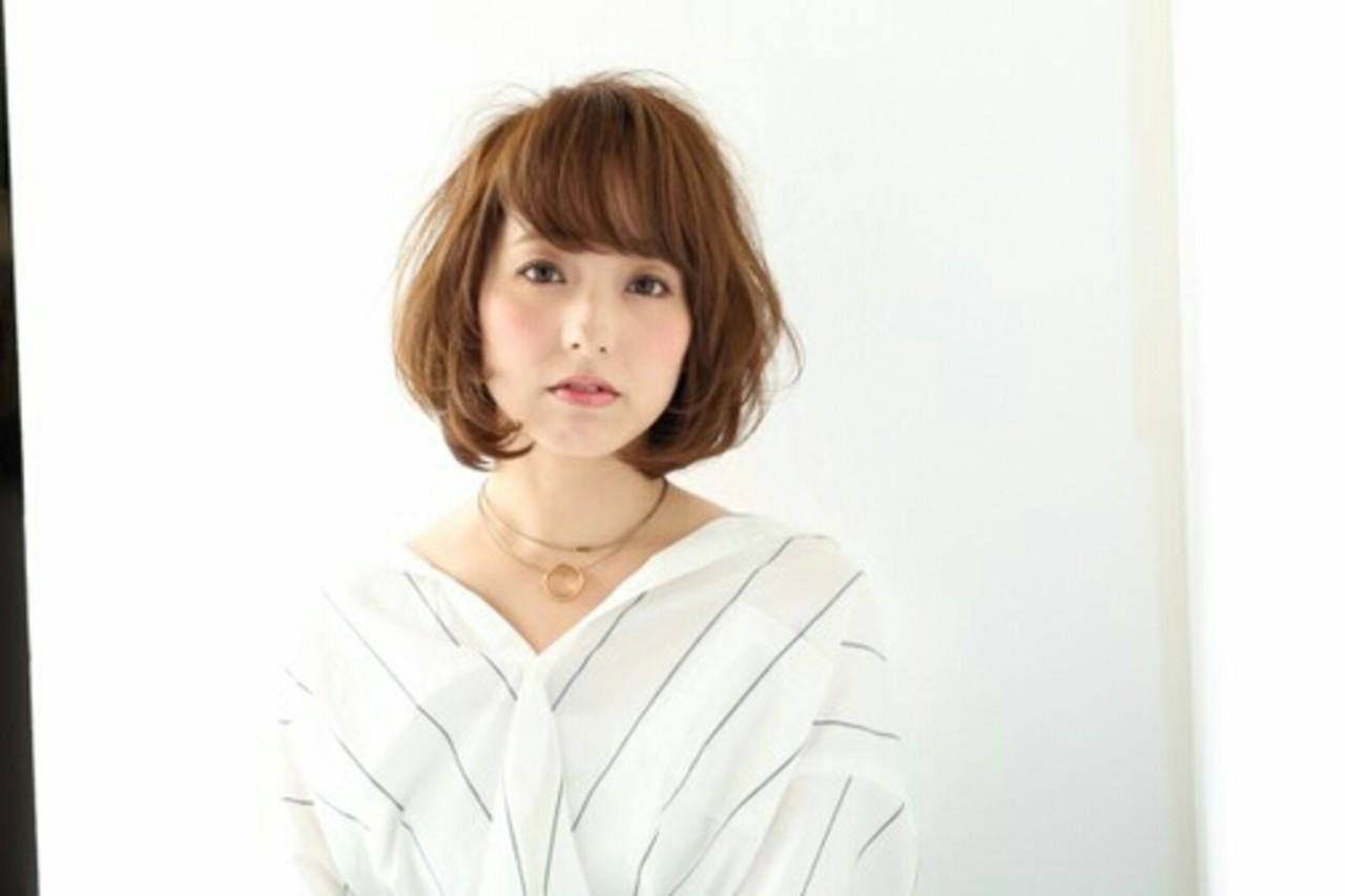 ゆるふわ パーマ モテ髪 ブラウンベージュ ヘアスタイルや髪型の写真・画像 | asuka /