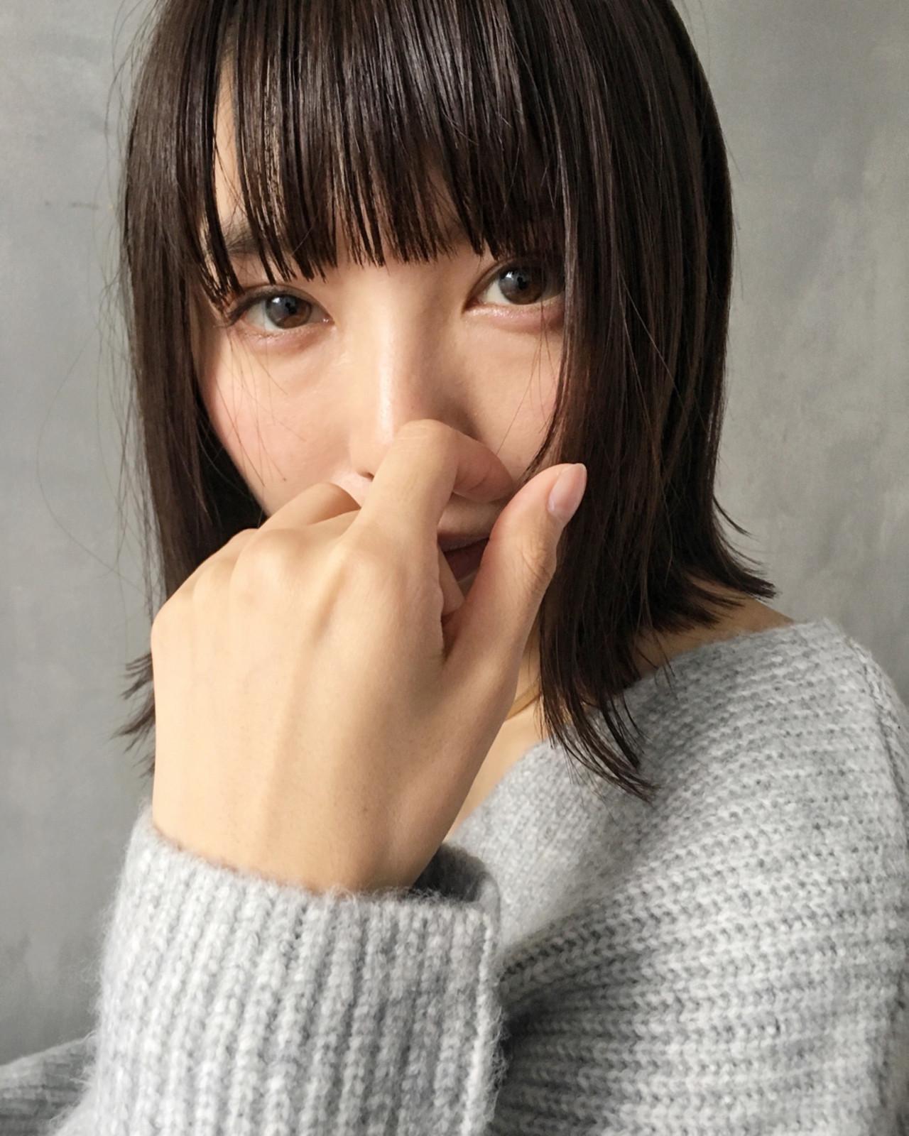 外国人風 透明感 ニュアンス ボブ ヘアスタイルや髪型の写真・画像 | 日野 達也 / GO TODAY  SHAiRE SALON