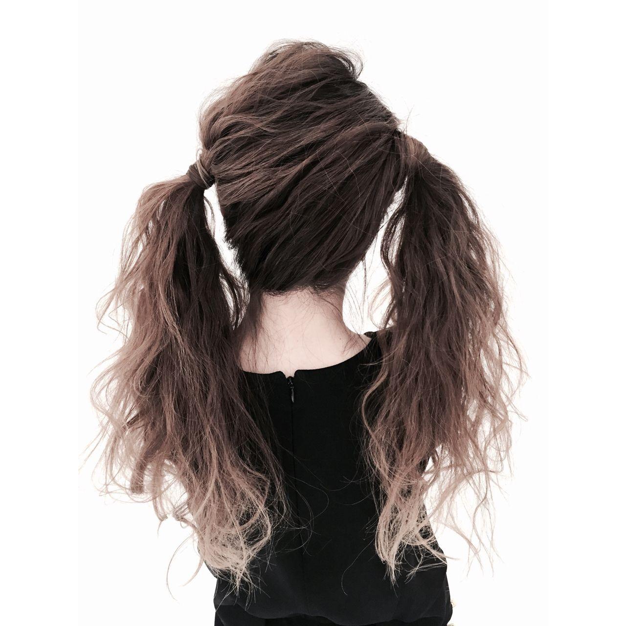 アップスタイル ヘアアレンジ ガーリー ツインテール ヘアスタイルや髪型の写真・画像 | 遠藤 隆弘 / air-OSAKA