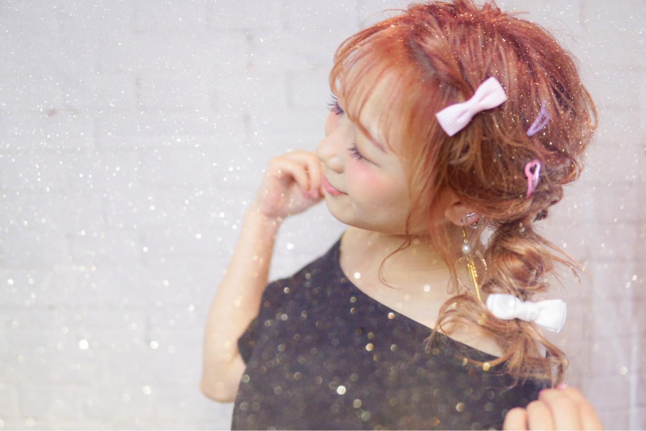 ガーリー ベージュ 簡単ヘアアレンジ セミロング ヘアスタイルや髪型の写真・画像   山口 卓哉/earth北浦和店 / Hair&Make EARTH北浦和店