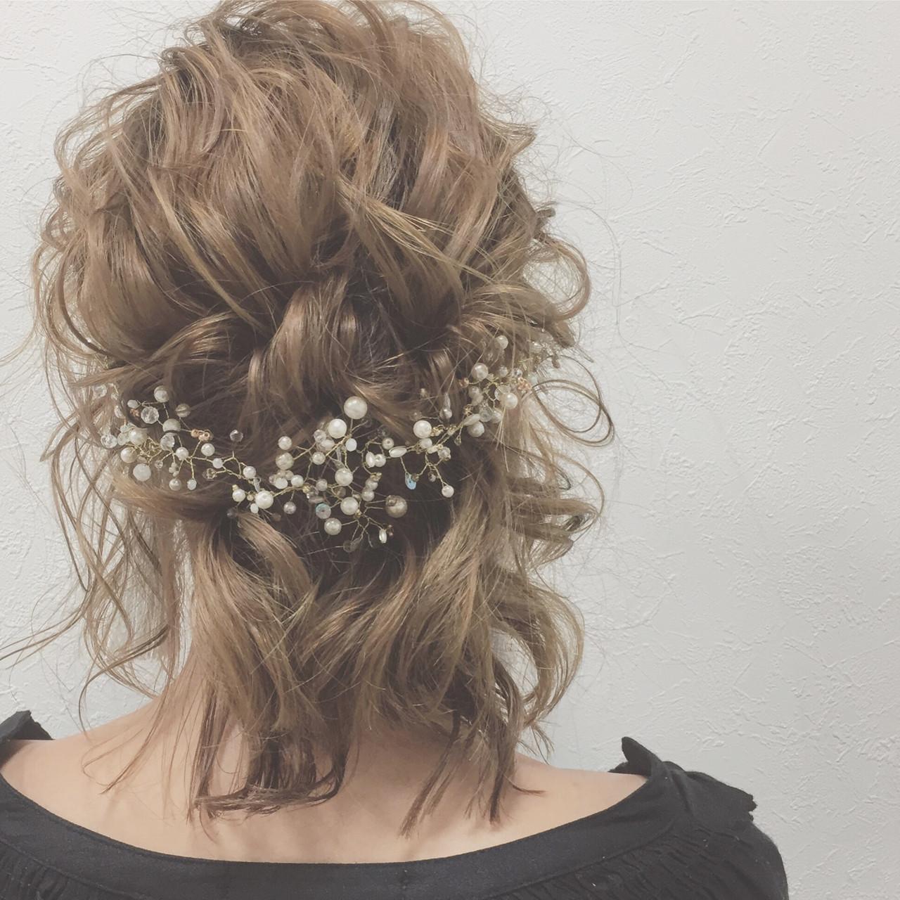 ヘアアレンジ 上品 結婚式 大人女子ヘアスタイルや髪型の写真・画像