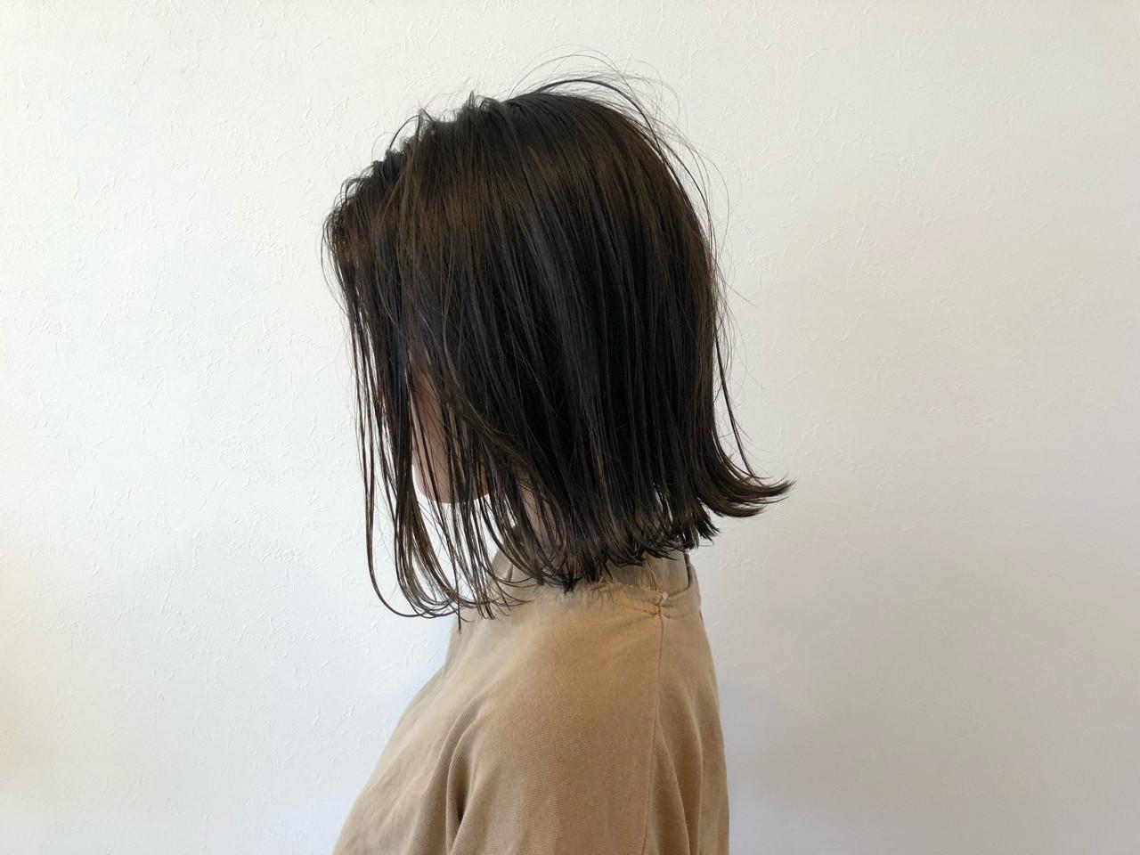 ミディアム 涼しげ ナチュラル 色気 ヘアスタイルや髪型の写真・画像 | 宇渡 裕一 / Lillie hair&spa
