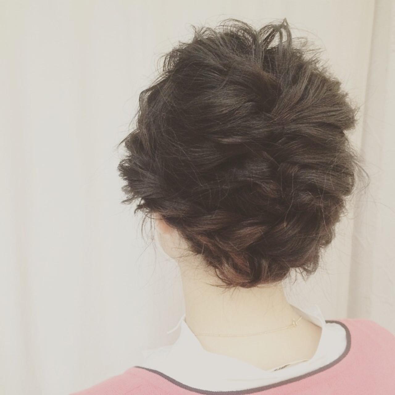 ボブ くるりんぱ グレージュ 夏ヘアスタイルや髪型の写真・画像