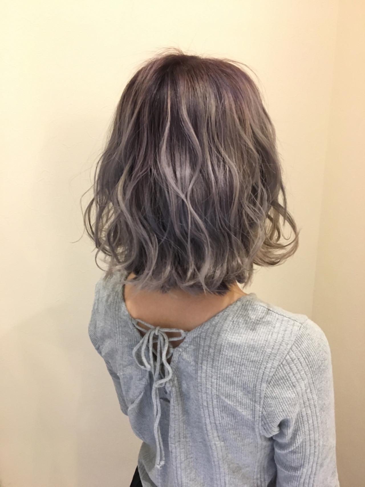 ボブ フェミニン グラデーションカラー 外国人風カラーヘアスタイルや髪型の写真・画像