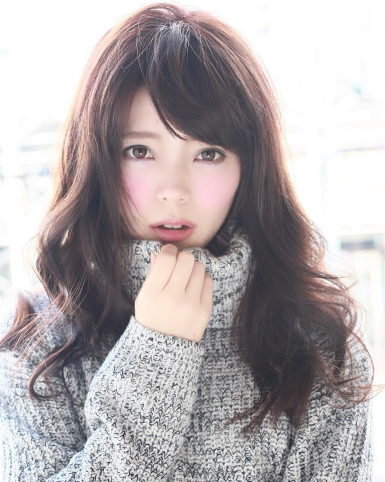 フェミニン ダークアッシュ コンサバ ロング ヘアスタイルや髪型の写真・画像 | 山田 あかり /