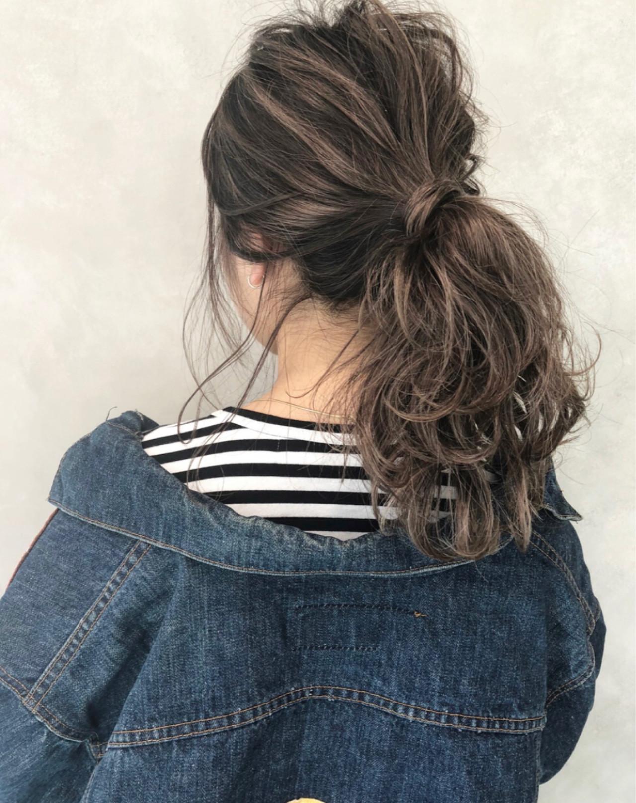 ハイライト 外国人風 ストリート ロングヘアスタイルや髪型の写真・画像