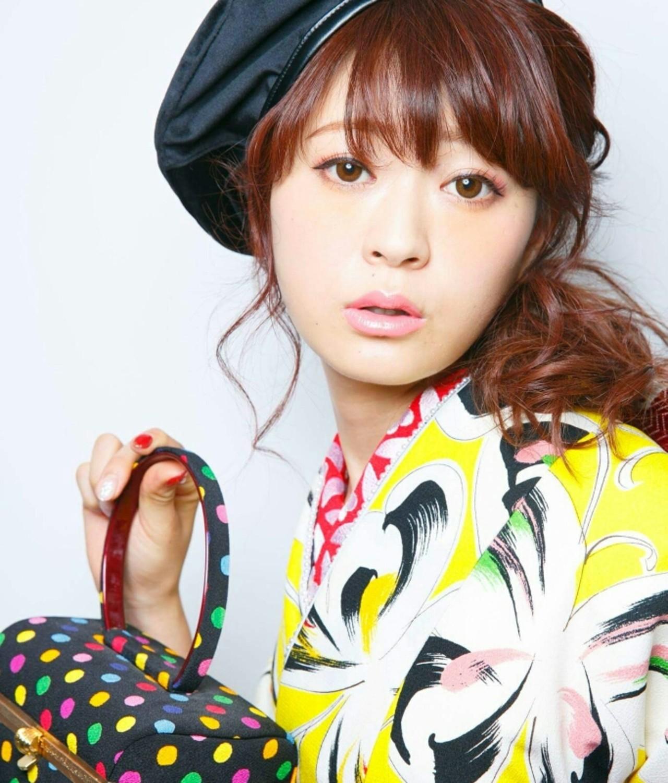 成人式 ガーリー 着物 ヘアアレンジ ヘアスタイルや髪型の写真・画像   Kanagon / Beauty Salon nagomi